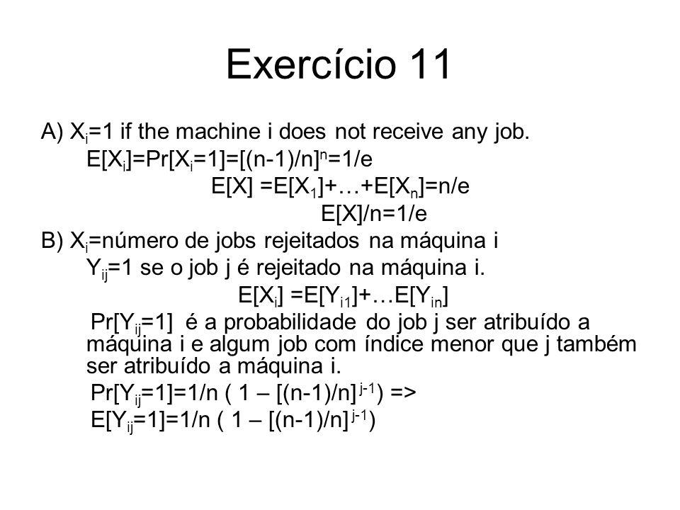E[X] =E[X1]+…+E[Xn]=n/e